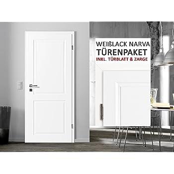 Weisslack Zimmerturen Paket Narva 2f 4 Elemente Turblatt Zarge