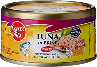 Golden Prize Tuna Flakes in Brine, 185g