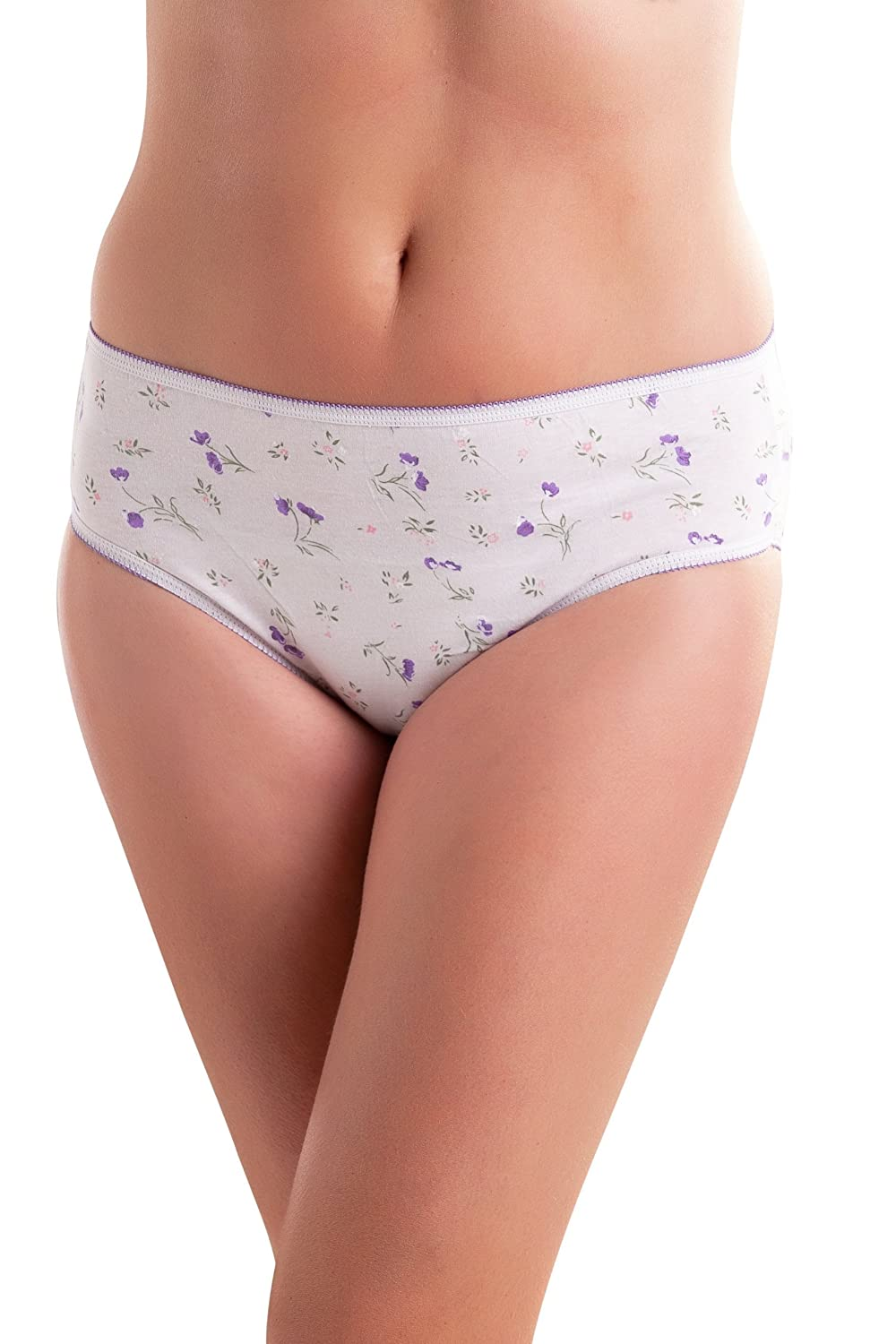 Passionelle Pack of 10 Womens Designer Assorted Print Design White Colour Bikini