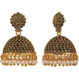 Jewel Pari Non-Precious Metal, Gold Plated Base Metal Pearl Earrings For Women & Girls