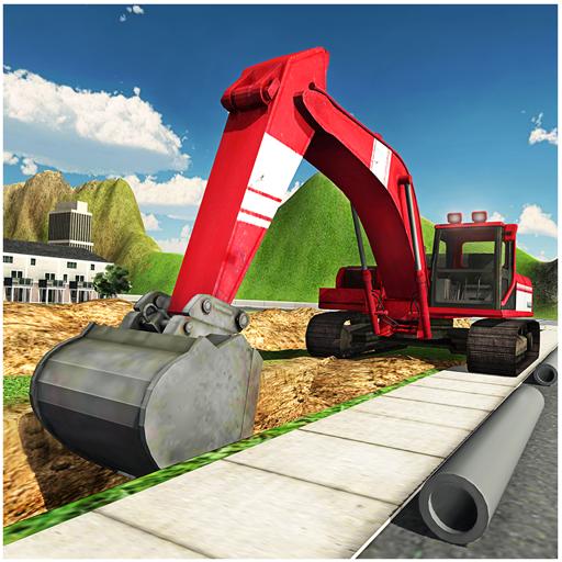Pesante gru escavatore 3D Simulator 2016