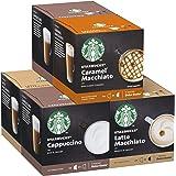 Starbucks Confezione Assortita di Bevande con Latte Nescafe Dolce Gusto 6 Confezioni da 12 Capsule (72 Capsule)