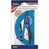 Helix Plástico Compass y PROTRACTOR SET, el color puede variar, colores surtidos (18803)