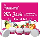 Skin Lotus Fruit 250 (GM) Made In India Instant Glowing Beauty Parlour Facial Kit Cream For Women & Men Facial Kit, all…