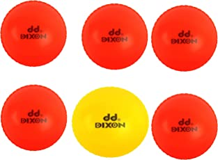 Dixon Cricket Wind Ball, Pack of 6 (Multicolor)