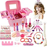 balnore Juguete de Maquillaje para niños, 34 Piezas Kit de Juguete de Maquillaje, Cosméticos Belleza Juguetes Juego de Maquil