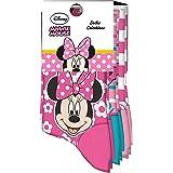 Kids Licensing | Calcetines Infantiles - Calcetines con Diseño Disney - Diferentes Diseños de Minnie Mouse - Tejido Transpira