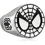 خاتم الرجل العنكبوت من الفولاذ المقاوم للصدأ للجنسين من مارفل كوميكس