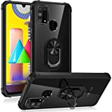 BOUNCE BACK Shockproof Transparent TPU + Pc Ring Stand Grip Back Case/Cover for Samsung Galaxy M31 / Samsung Galaxy F41…