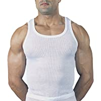 Mens Classic 100% Cotton Eyelet Mesh Vest Singlet Underwear 3 Vest pk