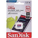SanDisk 64GB Ultra® microSDXC 120MB/s A1 Class 10 UHS-I
