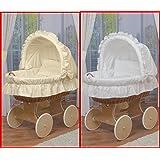 WALDIN Baby Stubenwagen-Set mit Ausstattung,XXL,Bollerwagen,komplett,6 Modelle wählbar