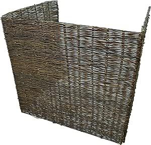 pour poubelles /à roulettes ou fixes Cache-poubelle en saule Triple Woodside