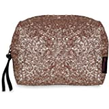 NFI essentials Glittery Makeup Pouch for Women Stylish Pouches for Makeup Accessories Storage Cosmetic Pouches Make up Bag fo