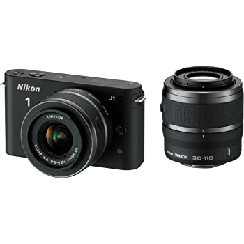 Nikon 1 J1 con Obiettivo VR 10-30 mm + VR 30-110 mm, Colore Nero [Versione EU]