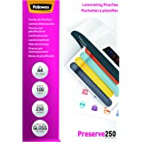 Fellowes Pack de 100 Pochettes de plastification à chaud A4-250 microns brillante