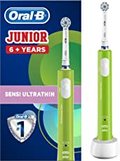 Oral-B Junior Wiederaufladbare Elektrische Zahnbürste ab 6 Jahren, grün