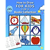 How to Draw for Kids : 3 in 1 Drawing Books COLLECTION, Easy and Fun Step-by-Step Drawing Book, How to Draw Animals, Vehicles
