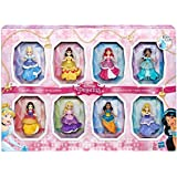 Disney COS1312433 Princess Small 8 Dolls Collection Juego de Estilos Brillantes con Vestidos de Clip