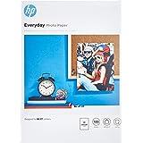 HP Everyday Photo Paper, Q2510A, 100 hojas de papel fotográfico brillante avanzado, compatible con impresoras de inyección de