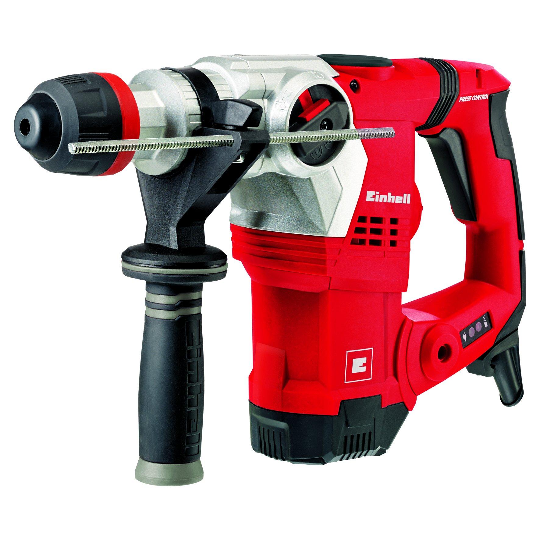 Einhell Bohrhammer TE-RH 32 E (1250 W, 5 J, Bohrleistung Ø 32 mm, SDS-Plus-Aufnahme, Metall-Tiefenanschlag, Vibrationsdämpfung mit Andruckanzeige, Koffer) Virtual Bundle