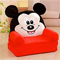 homescape Baby's Sofa Cum Bed and Chair (Red, 0-2years)