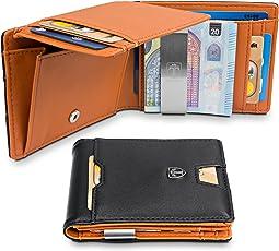 TRAVANDO Geldbeutel Männer mit Geldklammer Brisbane Kartenetui Slim Portemonnaie Portmonaise Herren Geldbörse Männer Klein Münzfach RFID Kreditkartenetui Brieftasche Portmonee Kreditkartenhalter