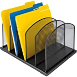 Amazonbasics 5-Tier File Organizer, Black Steel