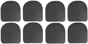 Hac24 8x Antirutschmatte Für Stuhlkissen Rutschmatten Stuhlauflagen Gummimatte Kissen Garten