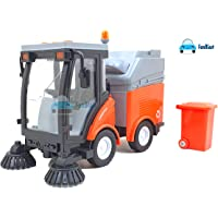 FunBlast Street Sweeper Truck Toy Friction Powered Trash Car Vehicle, Sweeper Truck Toys, 1:16 Kids Toy Music Light City…
