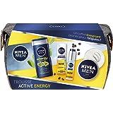 NIVEA MEN Trousse Active Energy (1 x 1 pce), trousse de toilette contenant 3 produits incontournables anti-signes de fatigue,
