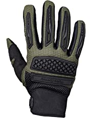 Royal Enfield Olive Faux Leather Protective Riding Gloves for Men (RRGGLK000014)