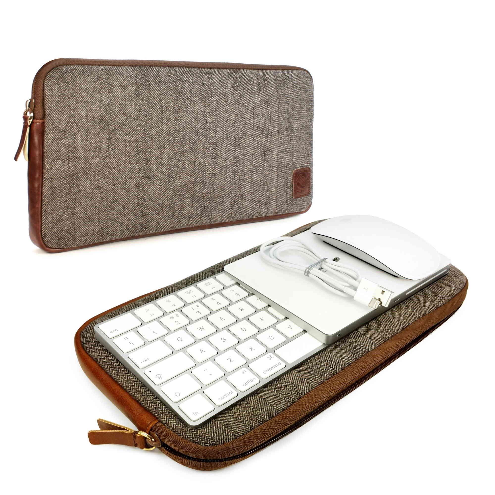Tuff-Luv J15_20_5055261824563 Tastiera Portafoglio Marrone, Grigio mobile device cases