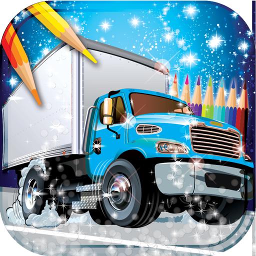 Camiones para colorear libro