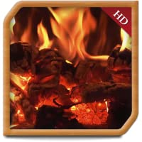 Curly Wood Fireplace - Decor your TV Screen to get peaceful ambience