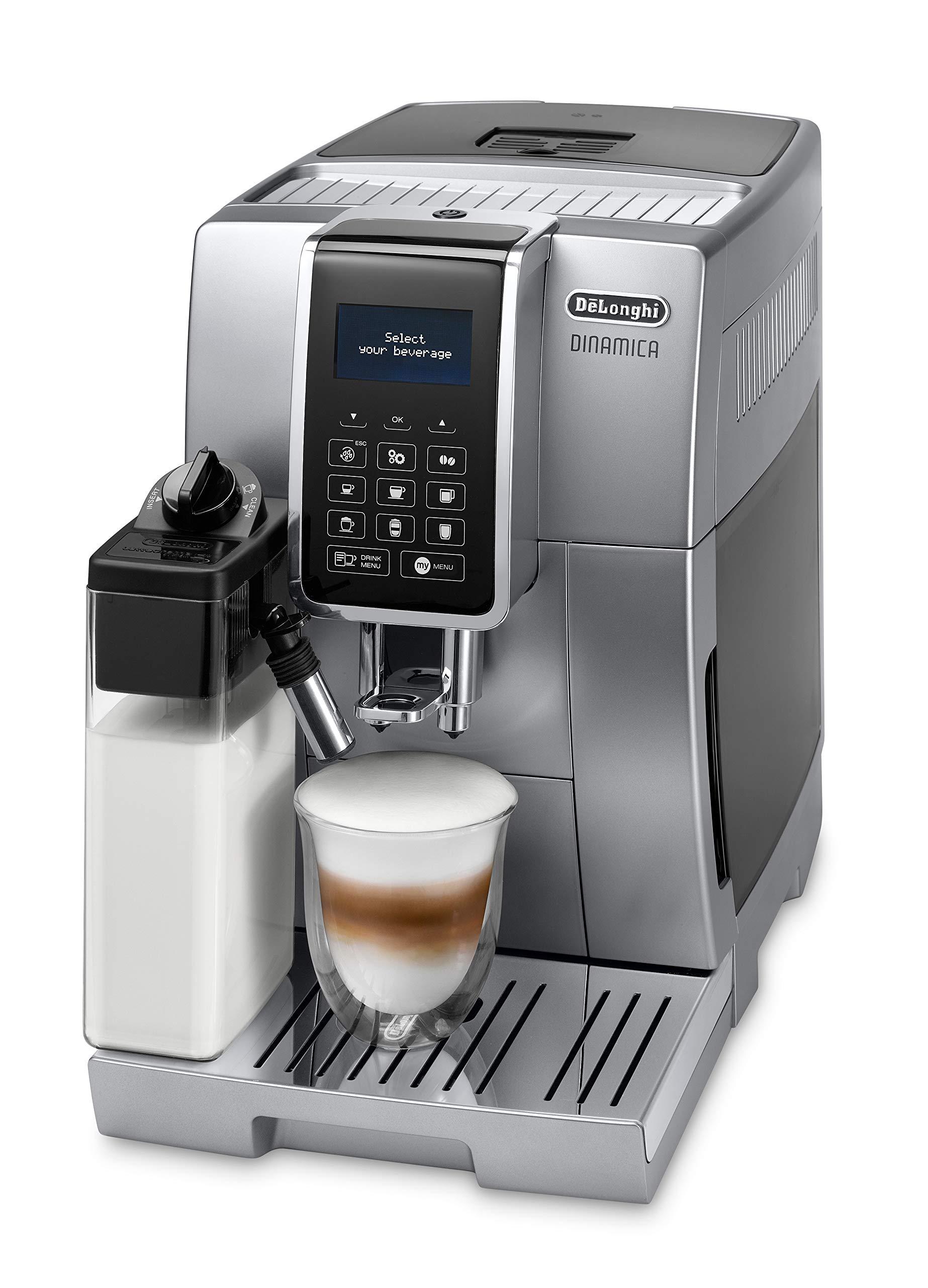 De'Longhi ECAM 350.75.S Dinamica Kaffeevollautomat (1450 Watt), silber