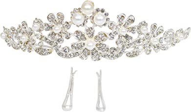 Vogue Hair Accessories Wedding Party Fancy Bridal Princess Head Crown Headgear Hair Accessories Premium Quality with Pins