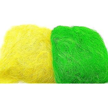 Easter Grass Decoration Bonnet Hats Arts Crafts Fake Grass Straw Decorate Basket