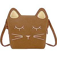 KEREDA Kinder Umhängetasche Mädchen, Katze CrossBody Messenger Bag, Prinzessin Mini Handtasche, PU Leder Süße kleine…