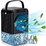 Climatiseur Écologique Portable Mini Refroidisseur d'air Personnel de 600 ml, Ventilateur de Climatiseur Mobile Silencieux, M