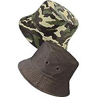 TOSKATOK® UPF 50+ Unisex Fully Reversible Cotton Rich Camouflage Bush/Bucket Hat