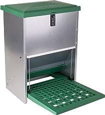 Automatische mit Fußhebel Futterspender für Hühner und andere poultry- Zink plattiert Rostfreie Metall- und UV-geschützt Kunststoff -