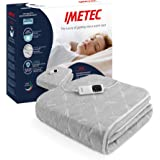 Imetec Adapto - Calientacamas individual 150x80 cm, tejido alcochado, tecnología patentada, rápido calentamiento, sistema de