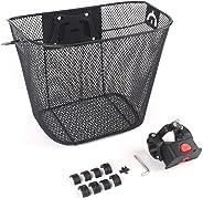 Bicycle Metal Mesh Basket MTB Mountain Bike Basket Quick Release Handle Cycling Bicycle Front Foldable Basket