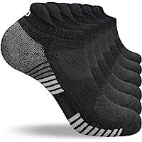 coskefy Running Socks Cushioned Sports Socks Ankle Socks Trainer Socks for Men Women Ladies Cotton Low Cut Athletic…