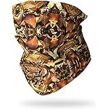 Ruffnek Hojas Otoño Camuflaje Multifuncional Cuello Calentador Térmico Polaina para Camping,Militar,Caza, Camuflaje Accesorio