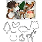 Anniversary House Woodland Animals Tin-Plated Cookie Cutter Set