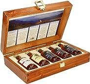 Pràban na Linne Whisky Probier- und Geschenkset (5 x 0.05 l): 5 x 50 ml in hochwertiger Holzkiste | Té Bheag, MacNaMara, Poit