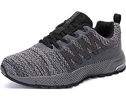 SOLLOMENSI Zapatillas de Deporte Hombres Running Zapatos para Correr Gimnasio Sneakers Deportivas Padel Transpirables Casual