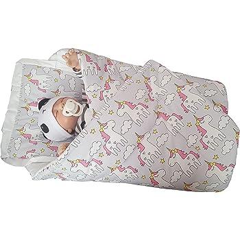 Blueberryshop classique avec oreiller Blueberry Shop Nid d ange Sac de  couchage pour nouveau-né, bébé Cadeau de douche 100% coton, 0–3 m (0–3 m)  (78 x 78 ... 5cde0870627